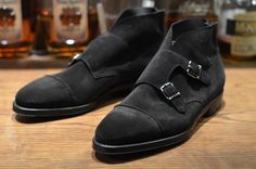 John Lobb – Black Suede William II Boot