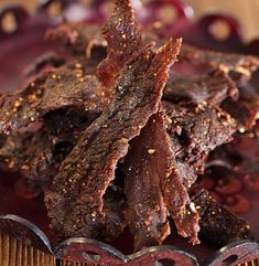 Anyone else need a snack? :) #DIY Outdoorsman #Venison #Jerky RECIPE: http://community.deergear.com/recipes/outdoorsman-venison-jerky/