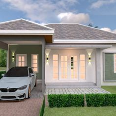 Home design plan with 6 bedrooms. Three-story house Modern style, 6 bedrooms, 5 bathrooms, suitable for living Or doing Bungalow House Design, Small House Design, Modern House Design, Modern House Plans, Small House Plans, Home Design Plans, Plan Design, Modern Tropical House, Two Storey House