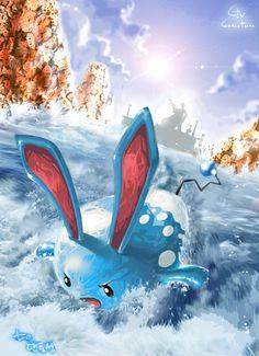 Water pokemon: Azumarill. #gottacatchemall #pixiv