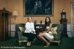 HRH The Countess of Wessex, Chair of the DofE Women in Business Committee and Naomie Harris, who plays Moneypenny in Skyfall and Spectre meet at Buckingham Palace to discuss the fundraising Diamonds are Forever Charity Gala.