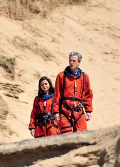 16 Doctor Who pictures: Behind the scenes with Peter Capaldi. I've seen those suits before! XD