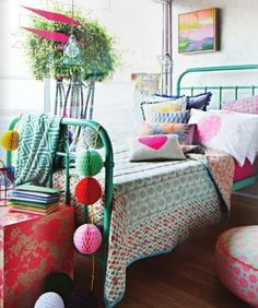 #excll #дизайнинтерьера #решения Интерьер для подростков: Смесь цветов и текстур для романтиков и мечтателей.