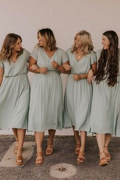 Sliver sage casual bridesmaid dress #wedding #weddings #bride  #brides #bridesmaid  #bridesmaids #bridesmaiddress #bridesmaiddresses
