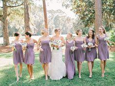 dusty purple bridesmaid dresses | Amy Arrington #wedding