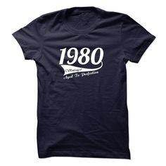 VINTAGE 1980 Aged To Perfection - Birthday Tshirt & Hoodie Aged T-Shirts & Hoodies