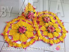 Jogo de Banheiro Flor Caracol Maxcolor
