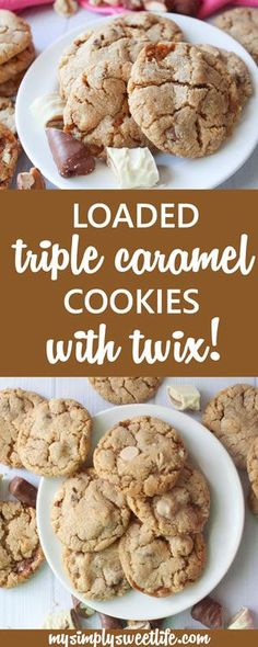 Crispy cookies loaded with caramel chips, chewy caramel bites, and chopped Twix bars. These are a caramel-lover's dream!