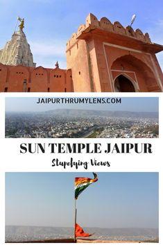 Sun Temple Jaipur Stupefying views. Also called  Surya Mandir on way to Galta ji  #Jaipurthrumylens #Suntemple #suryamandir #jaipur #travel #jaipursunsetpoint #hindutemple #temple #india #monkeytemplejaipur #galtaji