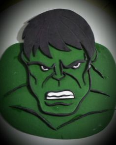 Incredible hulk cake i made my cake design for Incredible hulk face template
