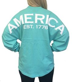 *Buy our products on Amazon* Ladies America Est. 1776 Mint Spirit Jersey