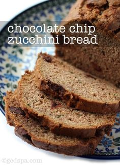 Need ways to use the zucchini my dad have me. Chocolate chip zucchini bread!