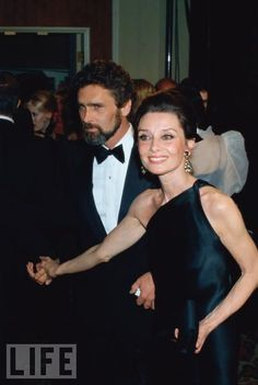 Her Final Love  Hepburn attends an event with her partner, actor Robert Wolders, circa 1981. Hepburn lived with the Dutch actor from 1980 until her death in 1993.