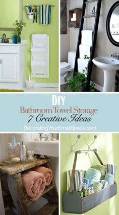 DIY Bathroom Towel Storage: 7 Creative Ideas! by lorid54
