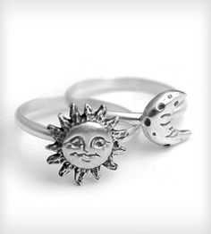 Sun and Moon Stacking Ring | Women's Jewelry | SteFanie Sheehan Designs | Scoutmob Shoppe | Product Detail