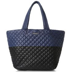 MZ Wallace Large Metro Tote in Black/Navy
