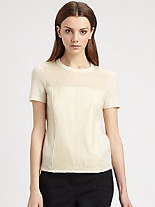 Reed Krakoff - Leather Panel Sweater