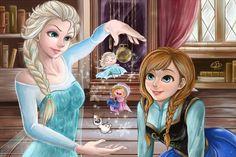 Frozen: Elsa and Anna by Lalaluze on deviantART