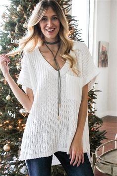 Winter Break Sweater! Shop the look in store + online. www.LaurenNicole.com