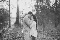 romantic casual fall / winter engagement photos