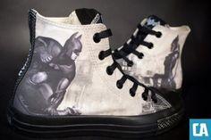 bf0abcac332f ComicsAlliance s New Custom Batman Converse   Arkham City  Sneakers Batman  Converse