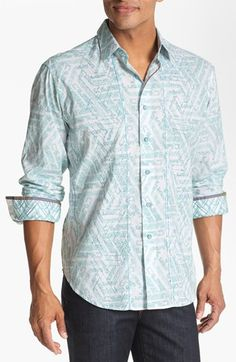 Robert Graham 'La Luna Pattern' Regular Fit Sport Shirt | Nordstrom
