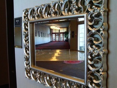 Mirror, mirror on the wall. There are plenty of stylish mirrors along the indoor plaza - your chance to make sure every hair is in place before making a grand entrance into the ballroom. Mirror Mirror, Mirrors, Guest Services, Business Centre, Grand Entrance, Indoor, Stylish, Wall, Interior