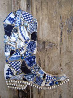 Mosaic cowboy boot.