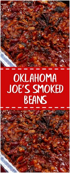 Oklahoma Joe's Smoked Beans #smoked #beans #easyrecipe #delicious