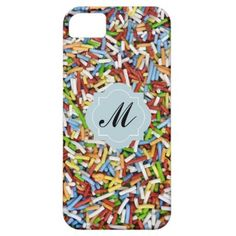 iPhone Case Sprinkles Colorful Candy Pink Monogram iPhone 5 Cover