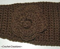 Crochet Creative Creations: Crochet Headband with flower