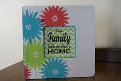 Handpainted and decorated wooden frame Our family by RusticRefurb, $12.00