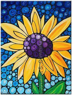 Basking In The Glory - Sunflower Art