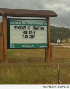Sign at a church in Colorado…