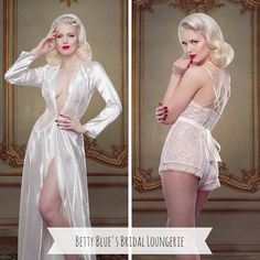 Bridal Loungerie with Old Hollywood Glamour from Betty Blue's