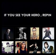 Add Ronnie and Andy<<< Brendon urie, Austin carlile, Gerard way, Vic Fuentes, and Kellin quinn and yes add andy<<And Pete Wentz