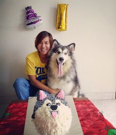 Happy 1st barkday keiko ..  Such a gentle giant