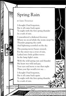 Spring Rain - A Poem by Sara Teasdale (Foreshadowing & Flashback): Spotlight On Literary Elements