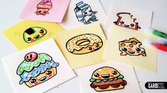 How To Draw Cute Food  - Easy and Kawaii Drawings by Garbi KW