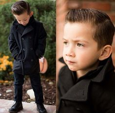 slick kid with a quiff