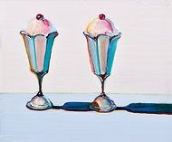 Wayne Thiebaud: Sundaes with cherries on top