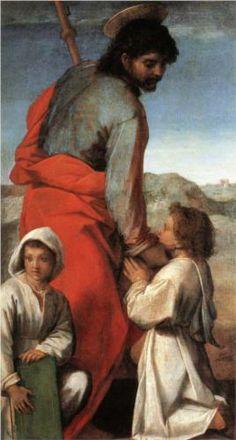 Andrea del Sarto - San Giacomo con due bambini - 1528-29 - Galleria degli Uffizi, Firenze
