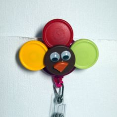Check out this item in my Etsy shop https://www.etsy.com/listing/217938156/gobble-gobble-handmade-turkey-id-badge