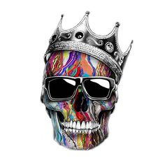 Just messing with this design trying to spruce thing up a bit. #biggie #skull #legends #sketch #drawing #color #design #crown #big