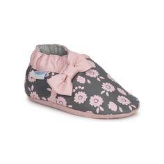 Σοσονάκια μωρού Robeez BOW TIE γκρι-ροζ