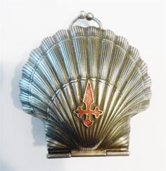 Antique 19th Century Scallop Shell Red Crusader St James Fitchy Cross Purse | eBay