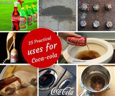 25 Alternative Practical Uses of Coca-Cola Diy Cleaning Products, Cleaning Hacks, Bra Hacks, Popular Drinks, Clean House, Dog Bowls, Home Remedies, Alternative, Diy Projects