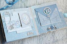 Creating A Family Recipe Scrapbook – Scrapbooking Fun! Scrapbook Bebe, Baby Boy Scrapbook, Mini Albums Scrap, Mini Scrapbook Albums, Baby Mini Album, Diy Crafts For Girls, Mini Album Tutorial, Photo Album Scrapbooking, New Baby Cards