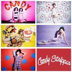 というわけでCandy Stripper 2015springのビジュアルが出揃いました♡プロップスタイリングしました♡カメラマンはキシマリさん♡ヘアメイクは橘房図さん♡スタイリストは松居るりさん♡EAT TOO MUCHな世界観♡