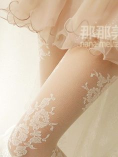 Dolly lace mesh stockings #asianicandy #lace #stockings